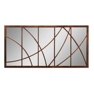 Uttermost Bertha Oversized Wall Mirror in Antiqued Crackled Bronze