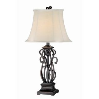 Kenroy Home Shay One Light Table Lamp in Bronze (Set of 2)