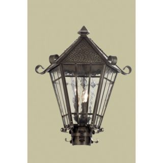 TransGlobe Lighting Three Light Post Lantern   5123 AC / 5123 ROB