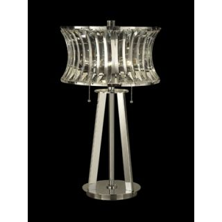 Dale Tiffany Two Light Crystal Table Lamp in