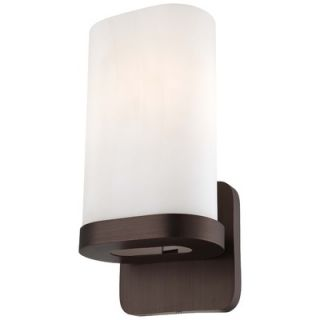 George Kovacs Wall Sconce with Oval Shaped Case Blue Glass Shade