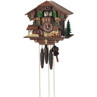 Schneider 11 Cuckoo Clock with Beer Drinker and Water Wheel
