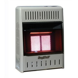 World Marketing 10,000 BTU Infrared Wall Space Heater with Thermostat