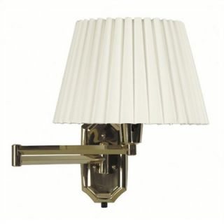 Kenroy Home Traditions 13 Swing Arm Wall Lamp in Polished Solid Brass