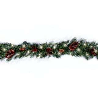 National Tree Co. Pre Lit 9 x 10 Pine Cone Garland