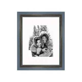 Frames By Mail 11 x 14 Rustic Wire Brush Frame in Grey/Blue   696