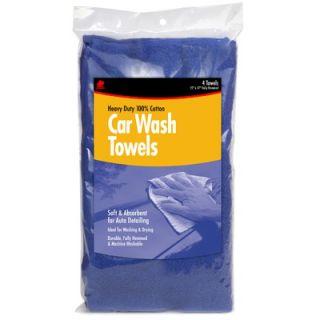Buffalo 4 Count 15 X 17 Blue Car Wash Towels 60260