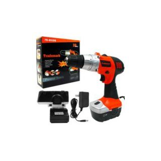 Trademark Global 18V Cordless Drill with LED Light and Extras   75