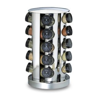 Kamenstein 20 Bottle Revolving Spice Tower in Stainless Steel