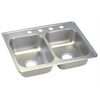 Elkay Dayton 25 x 19 Top Mount Stainless Steel Double Sink with