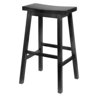 Winsome Saddle Seat 29 Bar Stool in Black