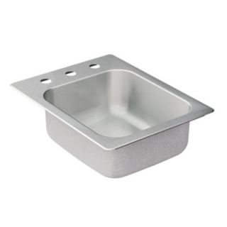 Moen Commercial 20 Gauge Stainless Steel Single Bowl Kitchen Sink