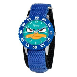 Disney Kids Agent P Time Teacher Watch in Blue   W000157