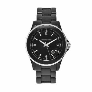 Michael Kors Womens Classic Black Acrylic Watch