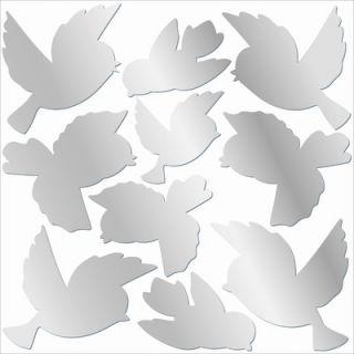 Lot 26 Studio Mirrored Sweet Bird Wall Stickers