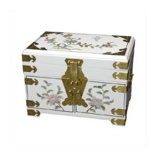 Furniture Chinese Daisy Jewelry Box With Mirror   LCQ 23 Gold