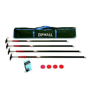 ZipWall Low Cost ZipPole™ Spring Loaded Pole 4 Pack Kit with Carry