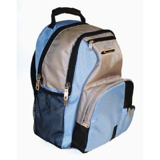 iSafe Built in Alarm School Backpack in Blue & Grey