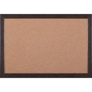 Cork Board in Mottled Black Brown / Gold Lip   28 x 40