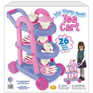 American Plastic Toys My Very Own 26 Piece Tea Cart Set