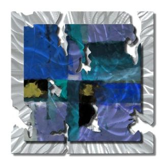 My Walls Blue Radiant Relic Abstract Wall Art   28 x 28   ABS00043