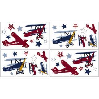 Sweet Jojo Designs Aviator Wall Decals Sheets (Set of 4)   Decal