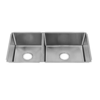Julien J18 32 x 17.5 Undermount 18 Gauge Double Bowl Kitchen Sink