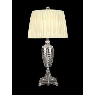 Dale Tiffany 30 One Light Crystal Table Lamp in Nickel