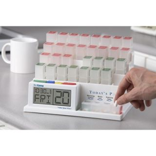 MedCenter System Deluxe 2 31 Day Organizers and 4 Alarm Reminder Clock