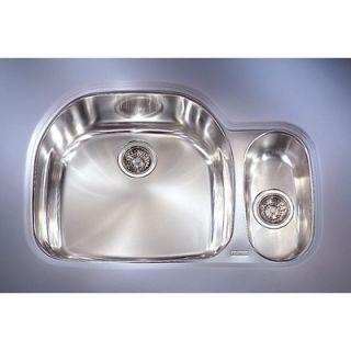 Franke Prestige 32 Stainless Steel Left Hand Double Bowl Kitchen Sink