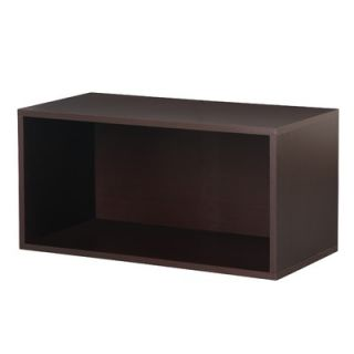 Foremost Modular Storage Large Open Cube in Espresso