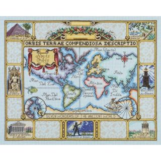 Janlynn Wonders of the Ancient World Map Counted Cross Stitch   015