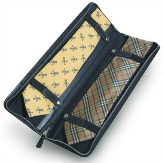 Clava Leather Quinley Travel Tie Case in Black   CL4567BLK