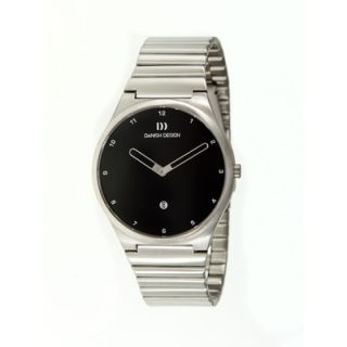 Danish Design Anna Gotha Mens Watch with Silver Circle Shaped Case