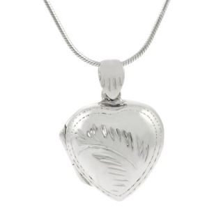 Skyline Silver Sterling Silver 0.65 Heart Locket Necklace