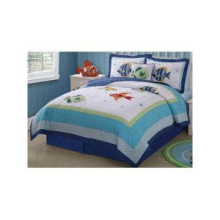 PEM America Colorful Sea Full / Queen Quilt with 2 Shams   QS3909FQ