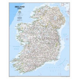 National Geographic Maps Ireland Classic Wall Map   RE01020427