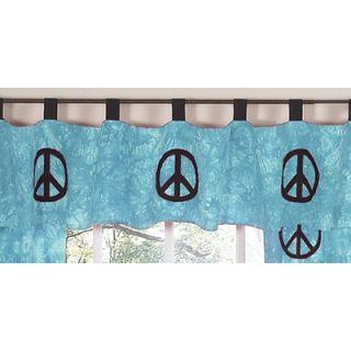 Sweet Jojo Designs Peace Blue Window Valance   Valance Peace BU