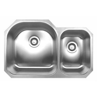 Whitehaus Collection Noahs Chefhaus 20.75 Double Bowl Undermount