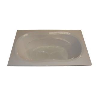 American Acrylic 72 x 42 Whirlpool and Air Massage Arm Rest Bath Tub