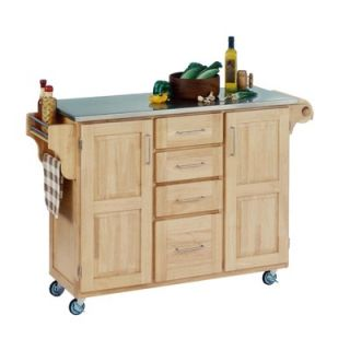Home Styles Kitchen Cart with Stainless Steel Top   9100 1042