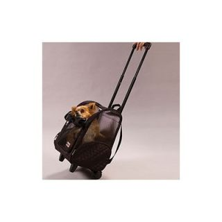 Snoozer Wheel Around Travel Pet Carrier in Black   86   X