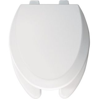 Elongated Commercial Open Front Molded Wood Toilet Seat with Top Tite