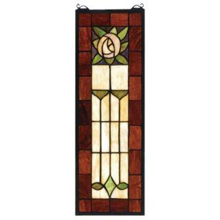 New birds tiffany sty stained glass window panel 18x18 for 18x18 window