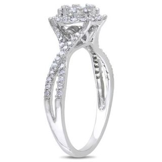 Amour White Gold Round Cut Diamond Fashion Ring   FC0W01 2L88