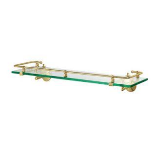 Gatco Tempered Glass Railing Shelf in Polished Brass