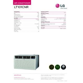 LG 9800 BTU Through the Wall Air Conditioner with Remote   LT101CNR