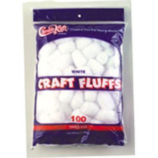 Chenille Kraft Craft Fluffs White 100/pk