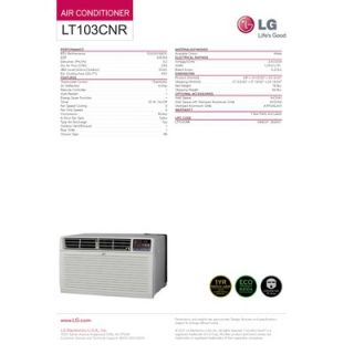 LG 10000 BTU Through the Wall Air Conditioner with Remote   LT103CNR