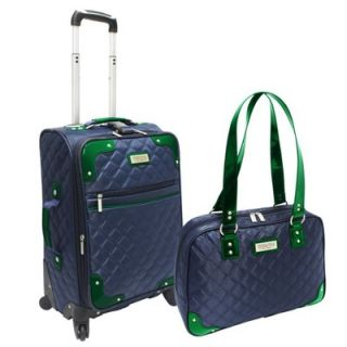 Beverly Hills Country Club Quilted Carry on Luggage 2 Piece Set